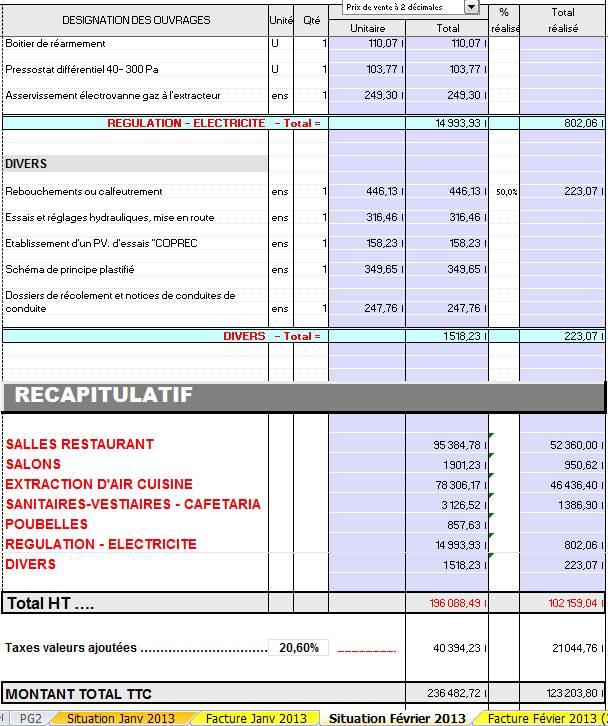 modele facture situation de travaux